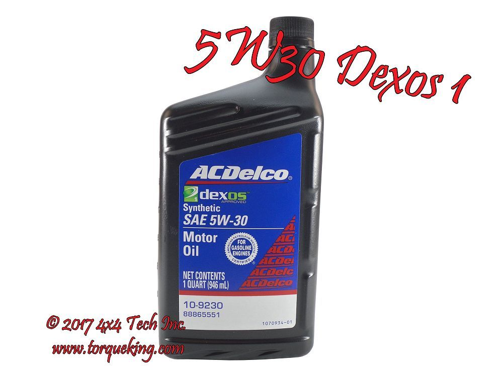 5W30 DEXOS1 QUART OIL