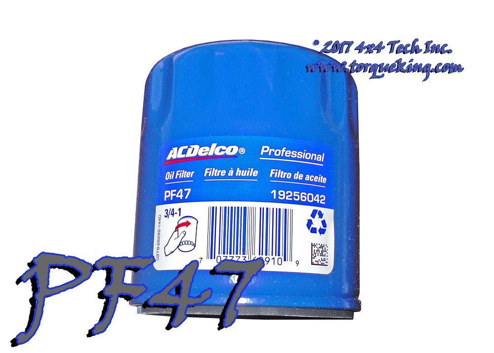 PF47 AC DELCO OIL FILTER