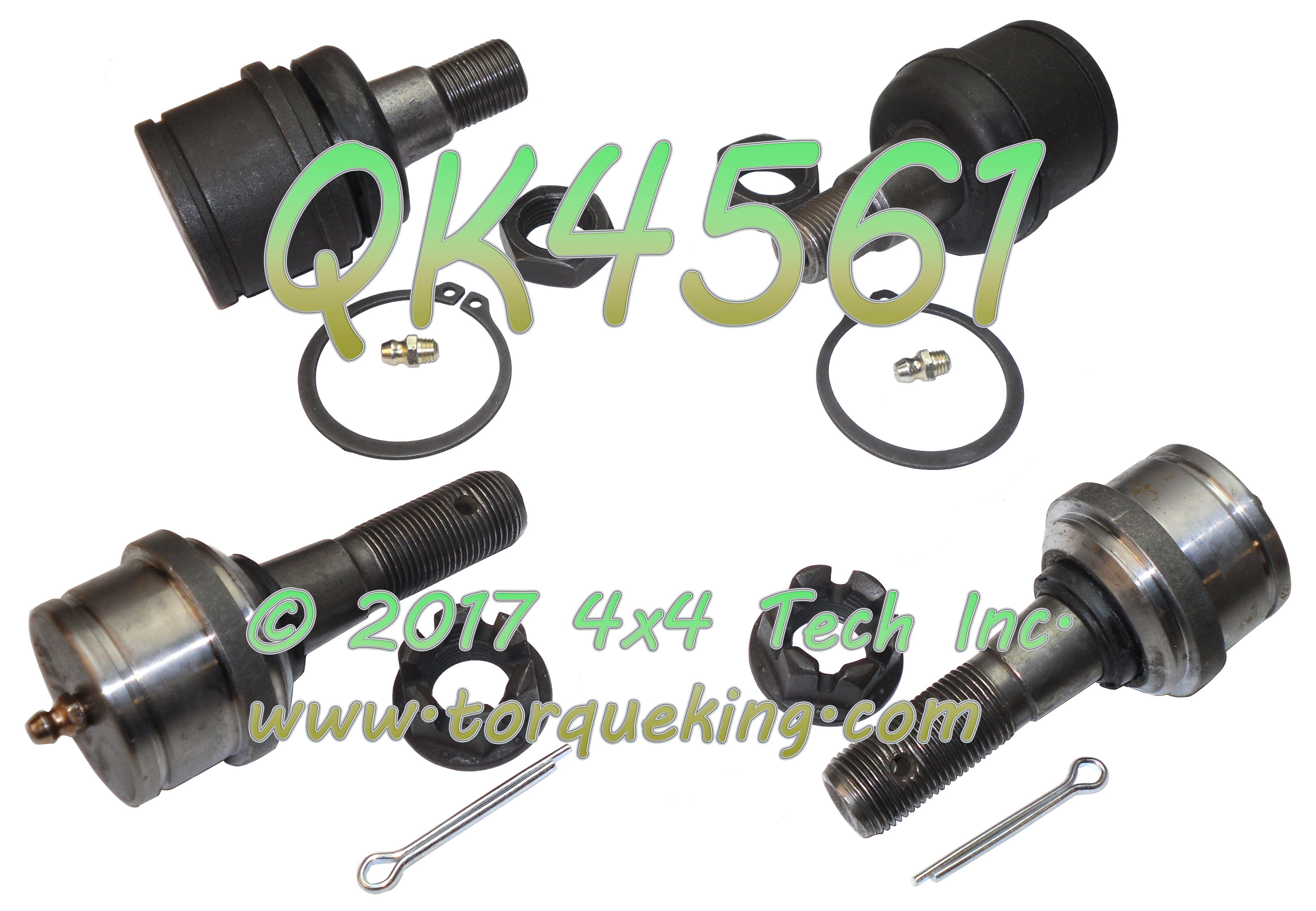 Qk Greaseable Ball Joint Kit For Ford Dana  Ifs Front Axles Includes  Upper And  Lower Greaseable Ball Joints With Hardware For All   Ford