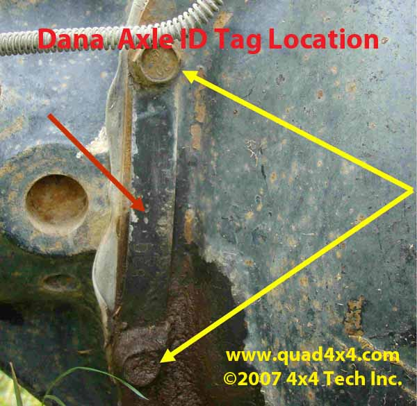 Ford dana spicer model 80 rear axle parts 1999 2010