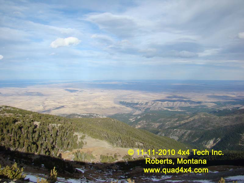 Montana Plains as seen from Beartooth Mtns